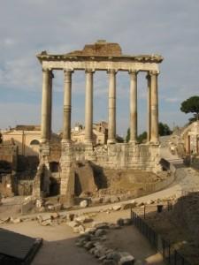temple de Saturne. Rome